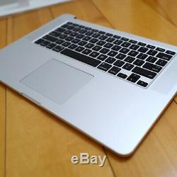 2015 Apple MacBook Pro A1398 15.4 Laptop i7 3.4G, 500G SSD, 16G RAM with NO LCD