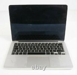 Apple A1425 MacBook Pro 13 10,2 EMC2672 2013 Chassis + Battery Only Cracked LCD