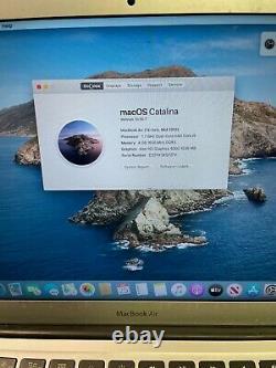 Apple MacBook Air 13 (2012) 1.7GHz i5 4gb 64GB SSD Heavy Wear LCD damage