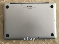 Apple MacBook Pro 13 A1502 Late 2013 2.4GHz 4GB RAM 128GB SSD Broken LCD