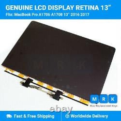 Apple Macbook Pro A1706 A1708 13.3 Retina Genuine LCD Screen ONLY 2016 2017