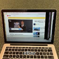 CRACKED LCD SCREEN Apple Macbook Pro 13 2015 2.7 I5 8GB 128GB Ssd Retina # PICA