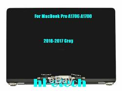 LCD Screen Display Assembly for MacBook Pro 13 A1706 A1708 2016 2017 Space Gray
