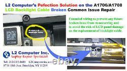 MacBook Pro A1706 A1708 A1707 LCD Flexgate Backlight Cable Broken Repair Service