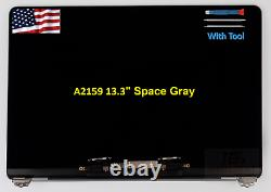 Macbook Pro Retina 13 A2159 2019 Space Gray LCD Full Screen Assembly EMC3301 A+