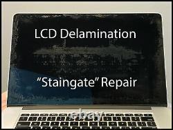 Macbook Pro Retina A1398 15 Early 2013 Screen LCD Delamination Antiglare Repair