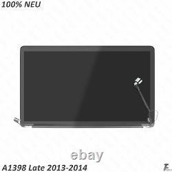 Neu LCD Screen Display Assembly für Apple MacBook Pro 15 Retina A1398 mitte 2014